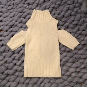 Express Off Shoulder Off White Sweater Size XS